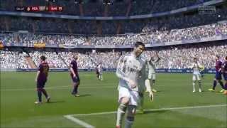 The best FIFA 15 goal ever?! Cristiano Ronaldo Rabona free-kick goal