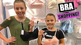 FIRST TIME BRA SHOPPING WITH MY MOM | TEEN BRAS
