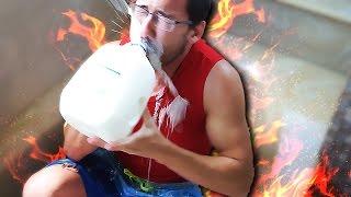 MARKIPLIER EATS 13 HABANEROS + ICE BATH | Fire and Ice Challenge