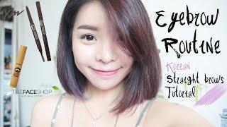 My Eyebrow Routine / Korean Straight Eyebrows Tutorial | Erna Limdaugh
