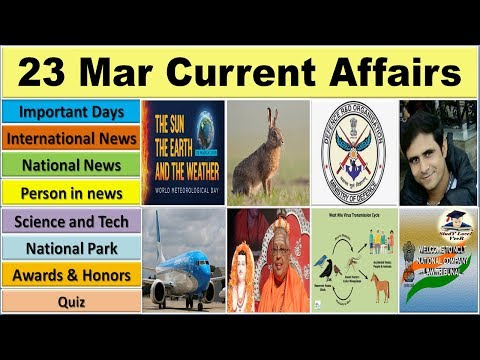 23 March 2019 PIB News The Hindu Indian Express Current Affairs in Hindi Nano Magazine VeeR
