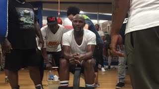 Floyd Mayweather In Camp For Conor McGregor First Video Of TBE Looking Great