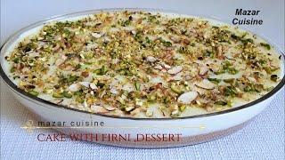 AFGHANI CAKE & FIRNI RECIPE  کیک فرنی دار افغانی ,SPONGE CAKE RECIPE WITH FIRNI  ,AFGHANI  COOKING