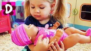 Кукла Беби Бон ПОДДЕЛКА Baby Born doll fake Видео для Детей про Игрушки Куклы Беби бон