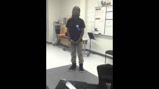Boy singing young Michael Jackson's