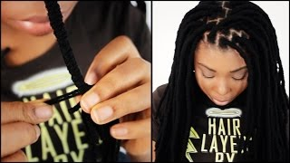 Faux Locs START TO FINISH In 5 Minutes!!!