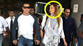 Salman Khan With Girlfriend Lulia Vantur At Airport Pics & Video