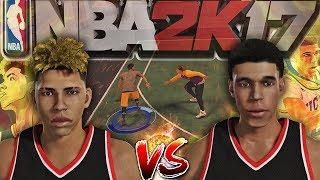 NBA 2K17 MyCourt Showdown 1v1 - LaMelo Ball vs Lonzo Ball!!