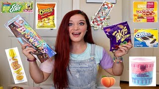 TEACHER TRIES HER STUDENTS FAVORITE SNACKS   TAKIS. HOT CHEETOS. LUNCHABLES &MORE