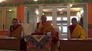The Medicine Buddha retreat in Tibetan language led by Arjia Rinpoche