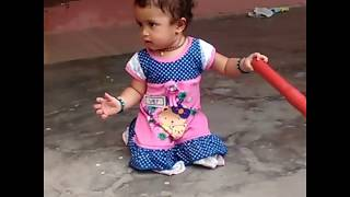 Cute Shanvi sweeping vedeo