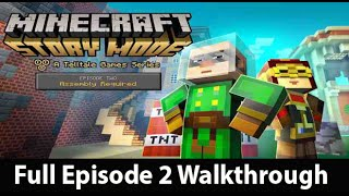 Minecraft Story Mode Episode 2 Full Walkthrough NO Commentary