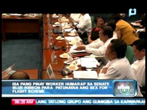 Xxx Mp4 Pinay Worker Humarap Sa Senate Blue Ribbon Committee Para Patunayan Ang Sex For Flight Scheme 3gp Sex