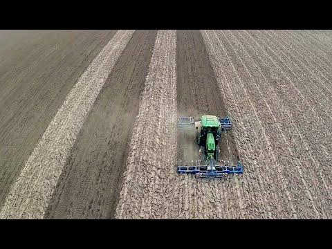 Preparing soil | John Deere 6150R & VSS Agro seedbed combination | De Biostee