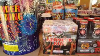 FIREWORKS SHOPPING! GIANT MORNING GLORYS COLOR SMOKEBOMBS SNAKES