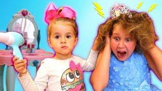 Ruby Pretend Play Make up Toys & Funny Hair-do at Princess Salon
