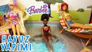 Barbie Evi Havuz Yapımı Yazlık Hazırlıkları   Nasıl Yapılır  Oyuncak Butiğim