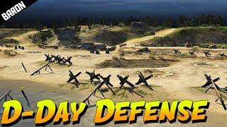 Hitler's AtlantikWall, Germans Defend Normandy Beach on D-Day - Men of War Assault Squad 2 Gameplay