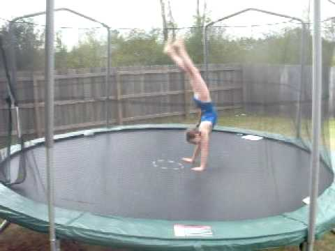 Me doing gymnastics on trampoline