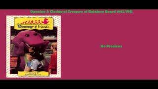 Barney: Treasure of Rainbow Beard 1992 VHS Opening & Closing