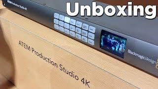 BlackMagic ATEM Production Studio 4K Unboxing