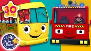 Wheels On The Bus and The Fire Truck | + More Nursery Rhymes & Kids Songs | Little Baby Bum