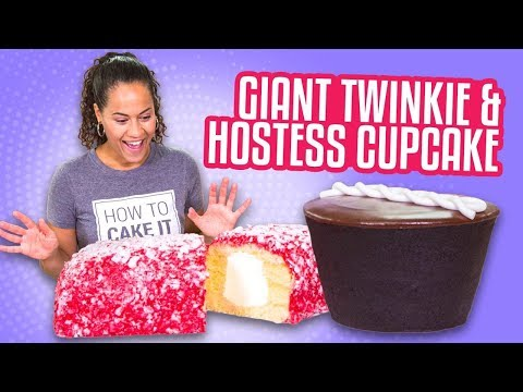 GIANT LUNCH BOX TREATS! Hostess Cupcake & Raspberry Twinkie | How To Cake It