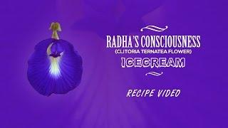 How to make Ice cream with Radha's Consciousness (Clitoria ternatea)