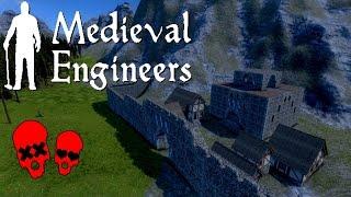Peasants!/Enemy Castle | Building Vader Hall Part 9 | Medieval Engineers