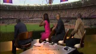 BBC Commentators, Denise Lewis & Colin Jackson's Reaction To Mo Farah's 5000m Gold !!!