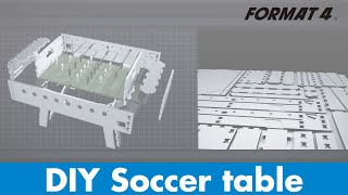Build a wooden Table Soccer/Football Table/Foosball Table/ with a Format-4 CNC woodworking machine
