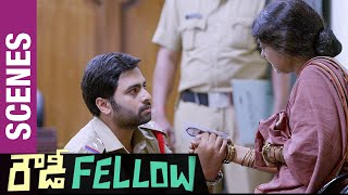 Rowdy Fellow Telugu Movie Scenes | Rameshwari slaps Nara Rohit in Police Station | Vishakha Singh