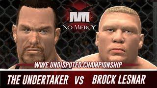 WWE 2K14 No Mercy 2002 Brock Lesnar vs The Undertaker (Simulation)