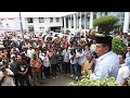 Pertama Kalinya !!! Di Zaman Edy Rahmayadi, Ratusan Abang Becak masuk Kantor Gubernur Sumut