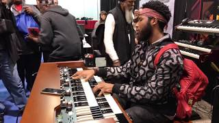 Cory Henry plays the Hammond XK5