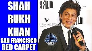 SHAH RUKH KHAN Red Carpet ARRIVAL and INTERVIEW at SAN FRANCISCO FILM FESTIVAL TRIBUTE 2017