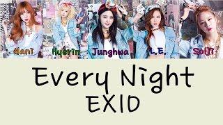 EXID – EVERY NIGHT (매일밤) (VER.2) Color Coded Lyrics [Rom/Eng] 1080p