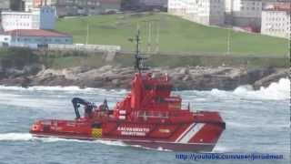 SEARCH AND RESCUE OPERATIONS in La Coruna bay