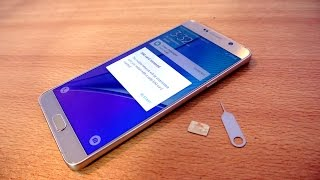 Samsung Galaxy Note 5 - How To Insert SIM Card EASILY!