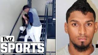 Baseball Player Danry Vasquez Caught Beating Girlfriend On Stadium Surveillance | TMZ Sports