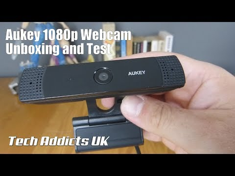 Aukey 1080p Webcam Unboxing and Test