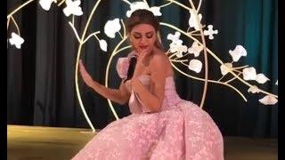 وصلة رقص ميريام فارس بتشجيع من فرقتها الخليجية   جديد 2018