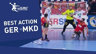 Great pass and beautiful goal from Stoilov against Germany | Men's EHF EURO 2018