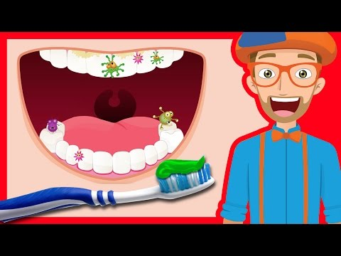 Xxx Mp4 Tooth Brushing Song By Blippi 2 Minutes Brush Your Teeth For Kids 3gp Sex