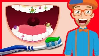 Tooth Brushing Song by Blippi | 2-Minutes Brush Your Teeth for Kids