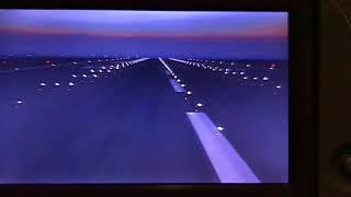 ما يشاهده الطيار لحظة اقلاع طائرة الاماراتية من مطار الملكة علياء في الاردن Plane Take Off