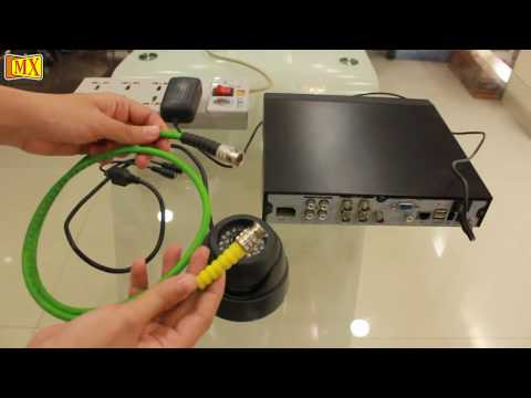 How to connect CCTV Camera's to the Monitor Using DVR
