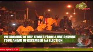 WELCOMING OF UDP LEADER ADAMA BARROW FROM A NATIONWIDE TOUR