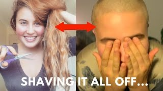 Girl shaves her head, One hairstyle at a time...