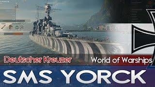 SMS YORCK ★ Deutscher Kreuzer - World of Warships Lets Play | Deutscher Tech Tree